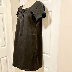 GAP Gray Midi Scrunch-Sleeve Tent Dress
